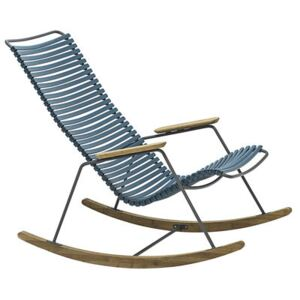 Click Rocking chair - Plastic & bamboo by Houe Blue
