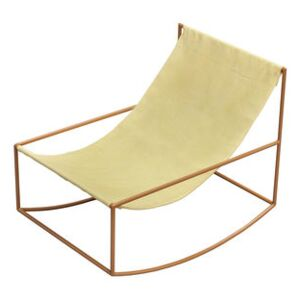 Rocking chair - / Linen by valerie objects Yellow