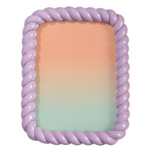 Braid Photo frame - / Rectangle - Polyresin / 21.5 x 16.5 cm by & klevering Purple