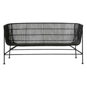 Cuun 2 seater sofa - / 2 seats - L 140 cm by House Doctor Black