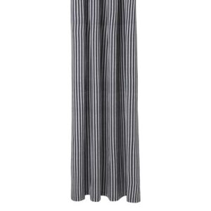 Chambray Striped Shower curtain - / 160 x H 205 cm - Coated cotton by Ferm Living Grey/Black