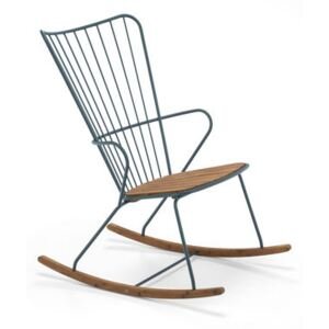 Paon Rocking chair - / Metal & bamboo by Houe Green/Natural wood