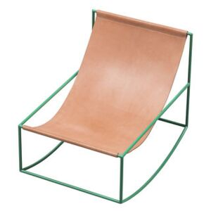 Rocking chair - / Leather by valerie objects Brown/Beige