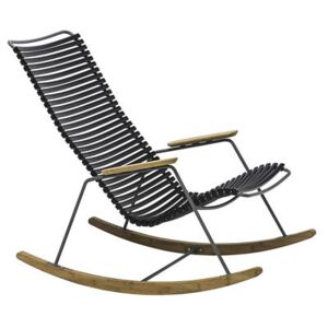 Click Rocking chair - / Plastic & bamboo by Houe Black