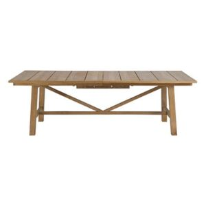 Synthesis Extending table - / L 230 to 300 cm - Teak by Unopiu Natural wood