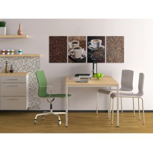 Canvas Print Kitchen: Coffee and relax