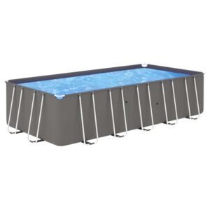 VidaXL Swimming Pool with Steel Frame 540x270x122 cm Anthracite