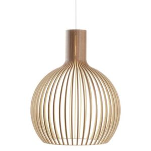 Octo Pendant - / Ø 54 cm by Secto Design Natural wood
