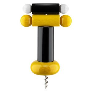 / By Ettore Sottsass Bottle opener - / Alessi 100 Values Collection by Alessi Black