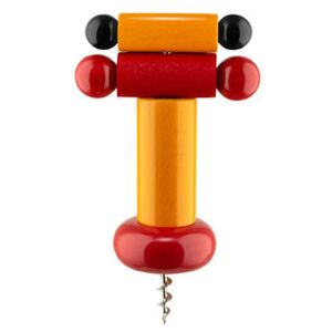 / By Ettore Sottsass Bottle opener - / Alessi 100 Values Collection by Alessi Orange