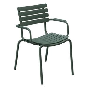 ReCLIPS Stackable armchair - / Metal armrests - Recycled plastic by Houe Green