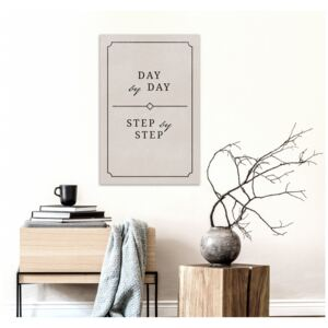 Canvas Print Quotes: Day by Day (1 Part) Vertical