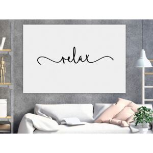 Canvas Print Quotes: Relax (1 Part) Wide