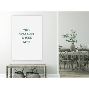 Canvas Print Quotes: Your Only Limit Is Your Mind (1 Part) Vertical