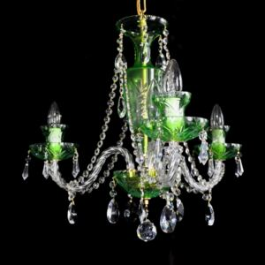 3 Arms Green Cased crystal chandelier
