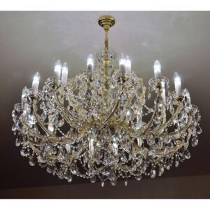 24-flame Maria Theresa crystal chandelier with the square hand-cut