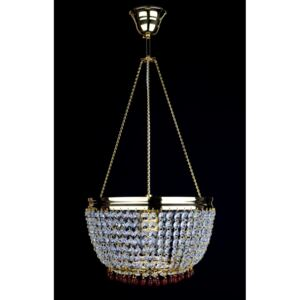 1-bulb strass basket crystal chandelier with Topaz drops