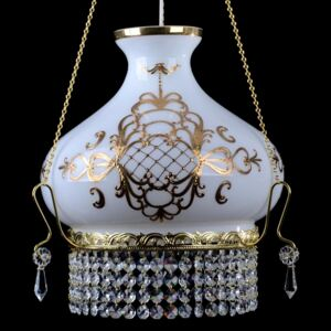 White chandelier for the bedroom decorated with Bohemian high enamel