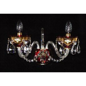 2-arm red wall light decorated with the high enamel