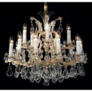 15 flames Maria Theresa crystal chandelier with crystal pendeloques