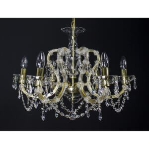 6 flames Maria Theresa crystal chandelier with crystal pears