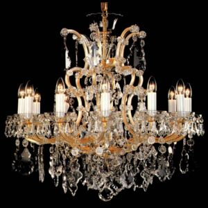 12 flames Maria Theresa crystal chandelier with crystal pendeloques