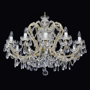 12-flame cost-effective crystal chandelier Maria Theresa with crystal almonds