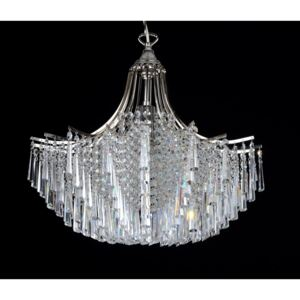 1-bulb silver design chandelier with crystal hooves