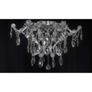 Surface-mounted Theresian chandelier with eight bulbs for lower ceilings