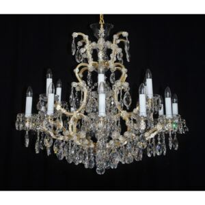 18 flames high Maria Theresa crystal chandelier with crystal almonds I