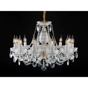 12-arm Bohemian crystal chandelier with PK500 hand cut - Crystal almonds