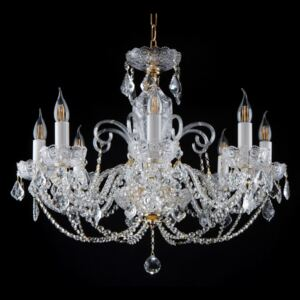 8-arm full-cut crystal chandelier in French style - PK500 hand-cut