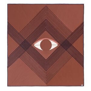 The Eye AP9 Bedspread - / 240 x 260 cm - Quilted organic cotton by &tradition Orange/Brown