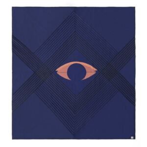 The Eye AP9 Bedspread - / 240 x 260 cm - Quilted organic cotton by &tradition Blue