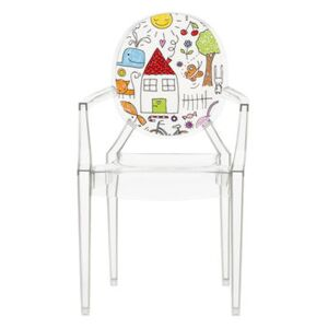 Lou Lou Ghost Children armchair - / Patterns by Kartell Multicoloured/Transparent