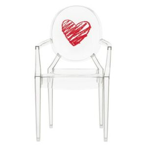Lou Lou Ghost Children armchair - / Patterns by Kartell Red/Transparent