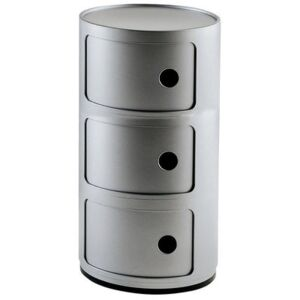 Componibili Storage - 3 elements by Kartell Grey/Silver