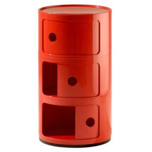 Componibili Storage - 3 elements by Kartell Red