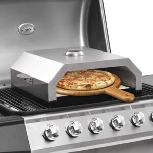 Pizza Oven with Ceramic Stone for Gas Charcoal BBQ