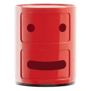 Componibili Smile N°2 Storage - / 2 draws - H 40 cm by Kartell Red