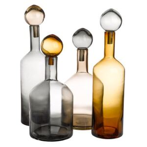 Bubbles & Bottles Carafe - / Glass - Set of 4 by Pols Potten Yellow/Grey/Beige