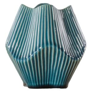 Cathcart Textured Blue Vase, Small