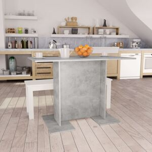 Dining Table Concrete Grey 110x60x75 cm Chipboard