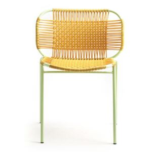 Cielo Stacking chair - / PVC threads by ames Yellow
