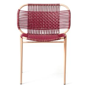 Cielo Stacking chair - / PVC threads by ames Red/Purple