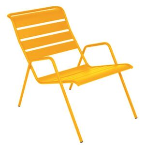 Monceau Low armchair - Stackable by Fermob Yellow/Orange