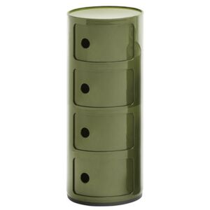 Componibili Storage - 4 drawers - H 77 cm by Kartell Green