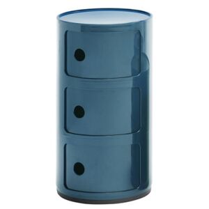 Componibili Storage - 3 drawers / H 58 cm by Kartell Blue