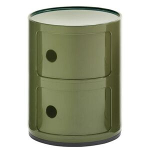 Componibili Storage - 2 drawers / H 40 cm by Kartell Green