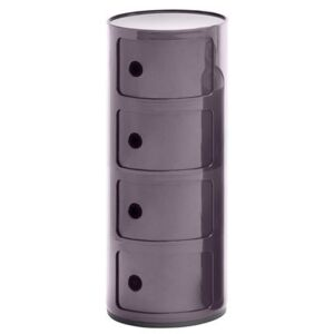 Componibili Storage - 4 drawers - H 77 cm by Kartell Purple